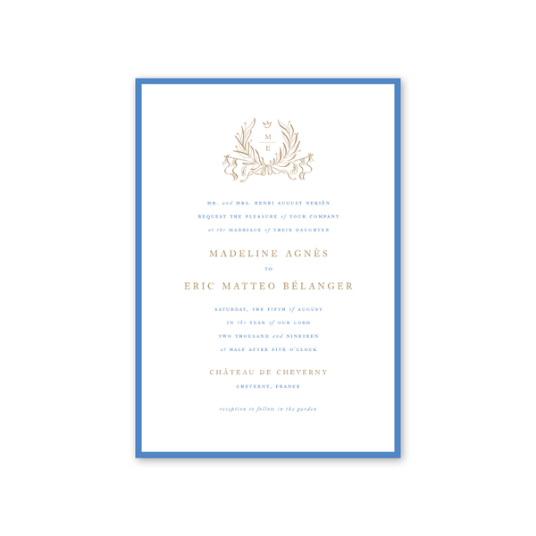 Campagne Wedding Invitation