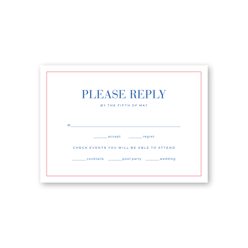 Naples Reply Card