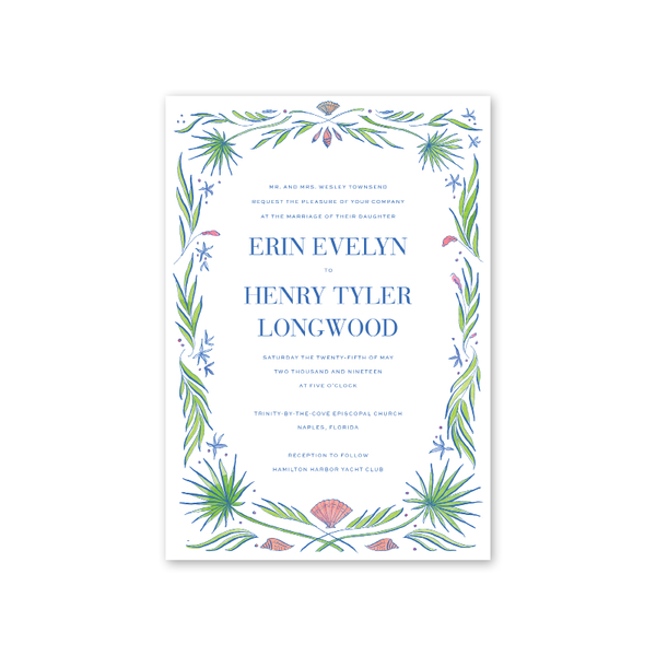 Naples Wedding Invitation