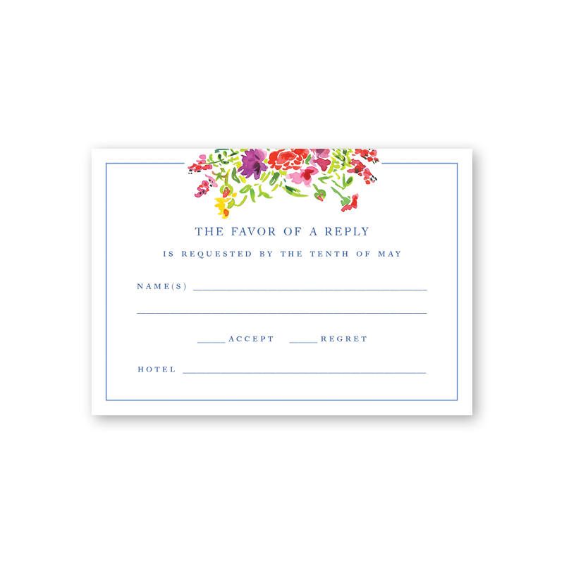 Bougainvillea Reply Card