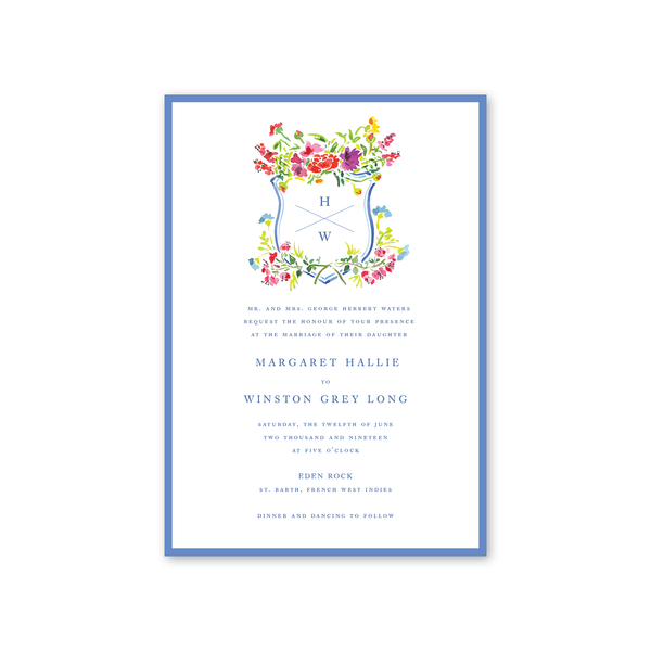 Bougainvillea Wedding Invitation
