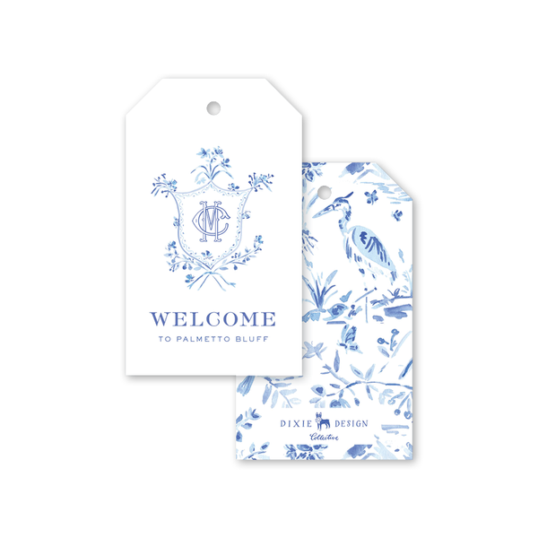 Heron Crest Gift Tags