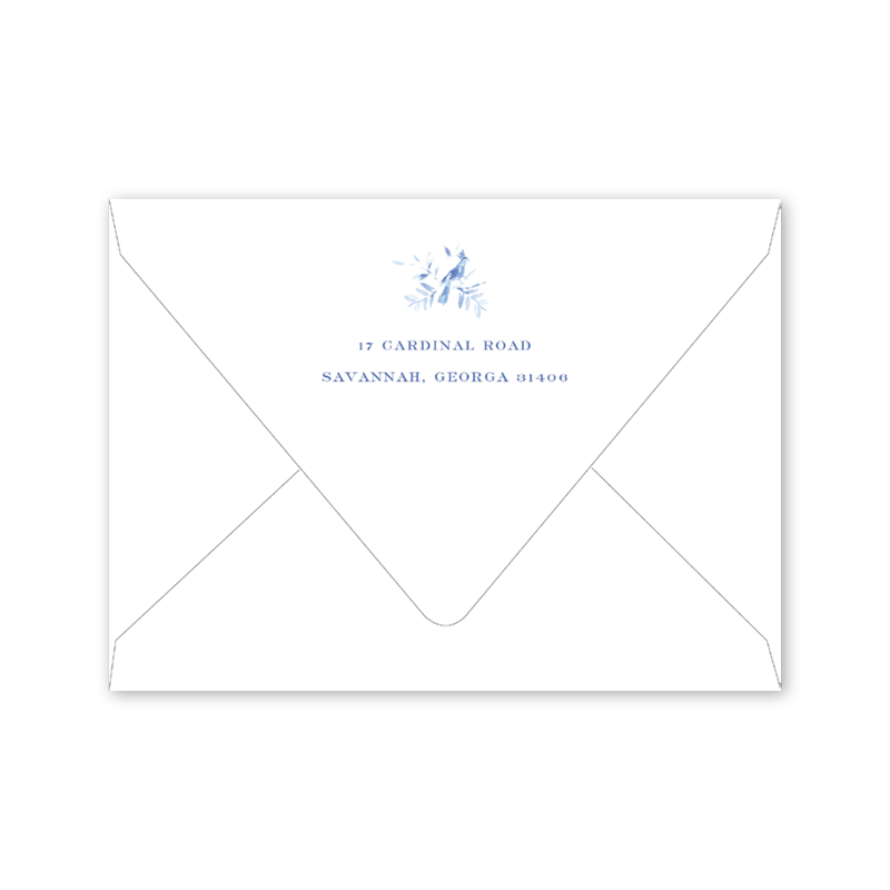 Heron Crest Save the Date Envelopes