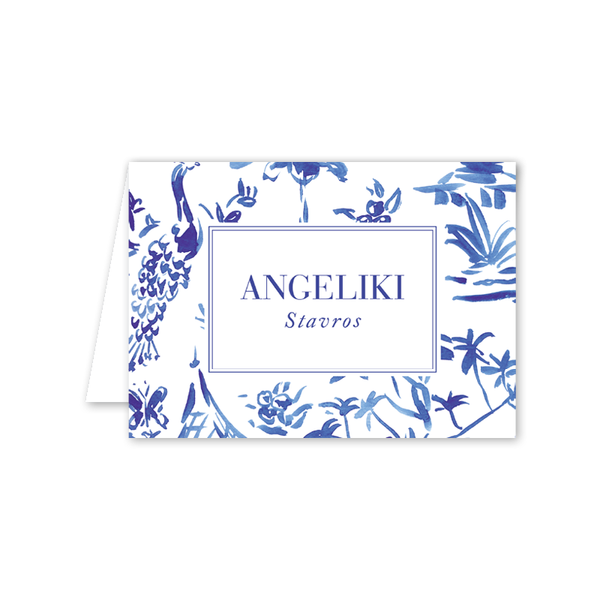 Toile Folded Notecard
