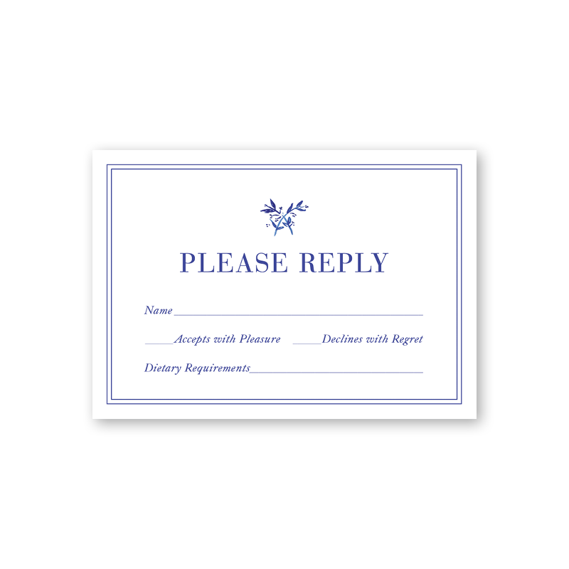 Toile Reply Card