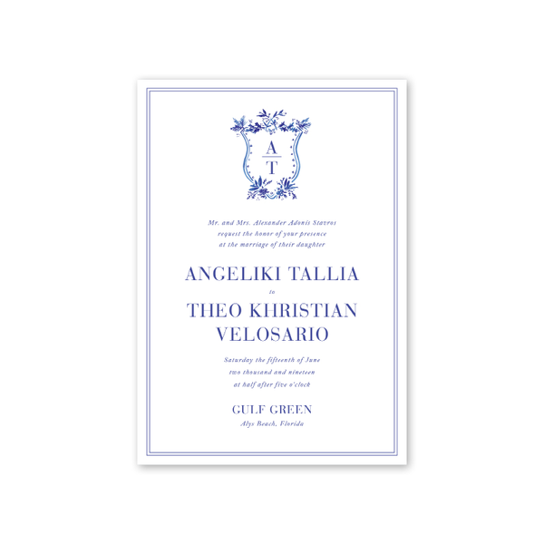 Toile Wedding Invitation