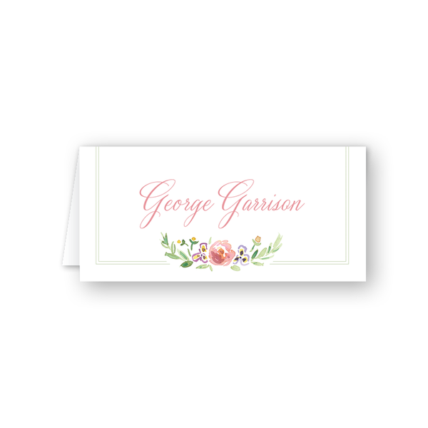 Wildflower Place Card