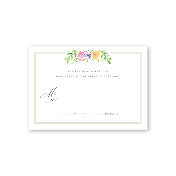 Wildflower Reply Card