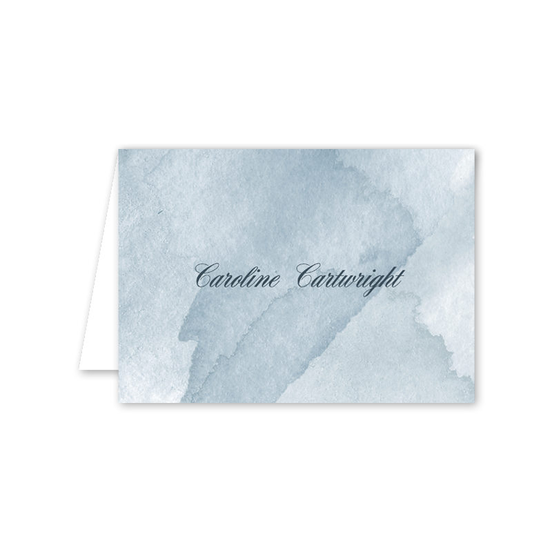Watercolor Folded Notecard