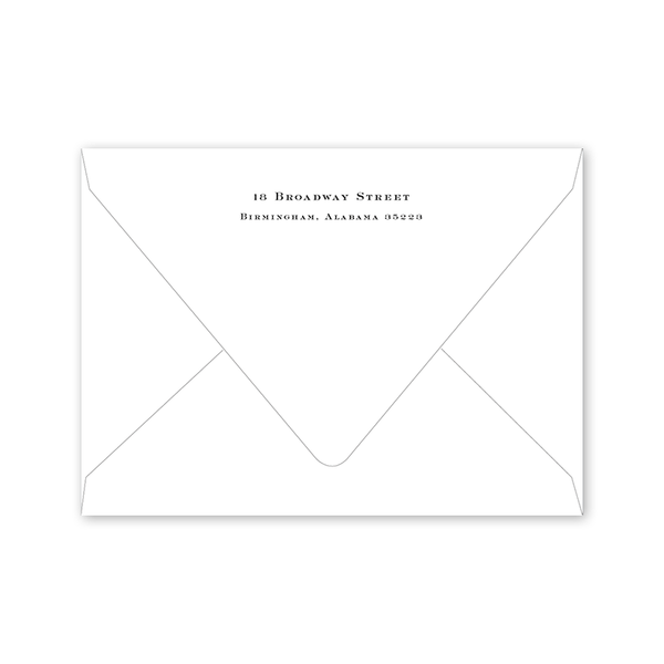 Classic Cross Save the Date Envelopes