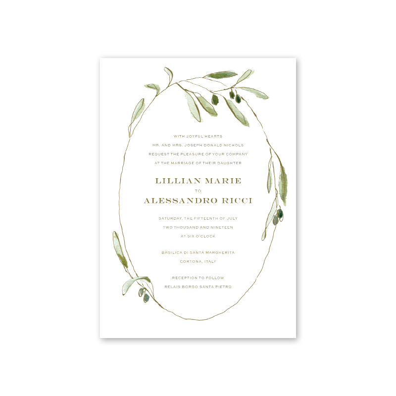 Oliva Wedding Invitation