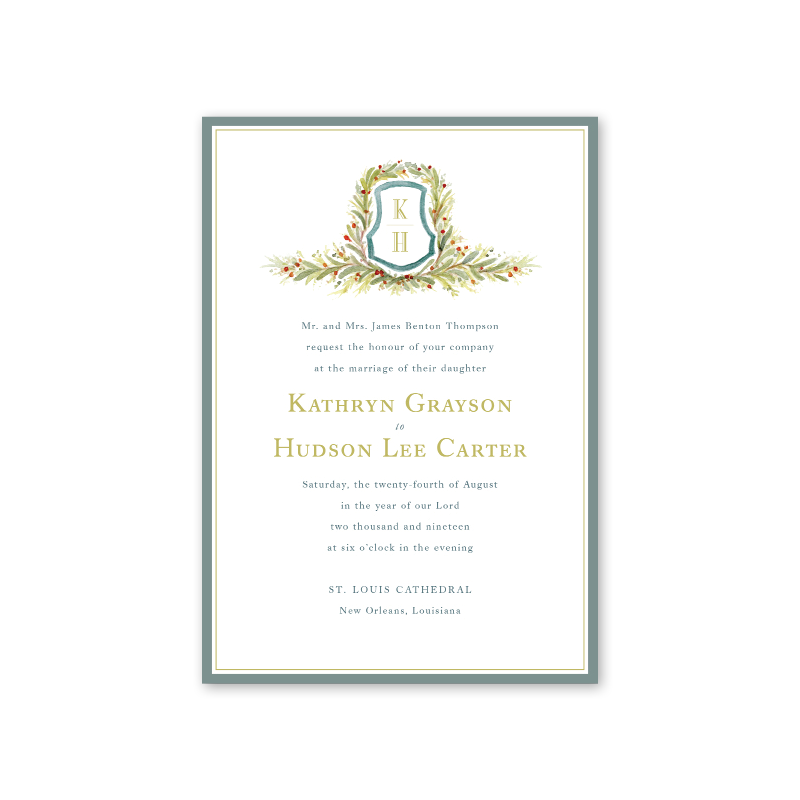 Nandina Wedding Invitation