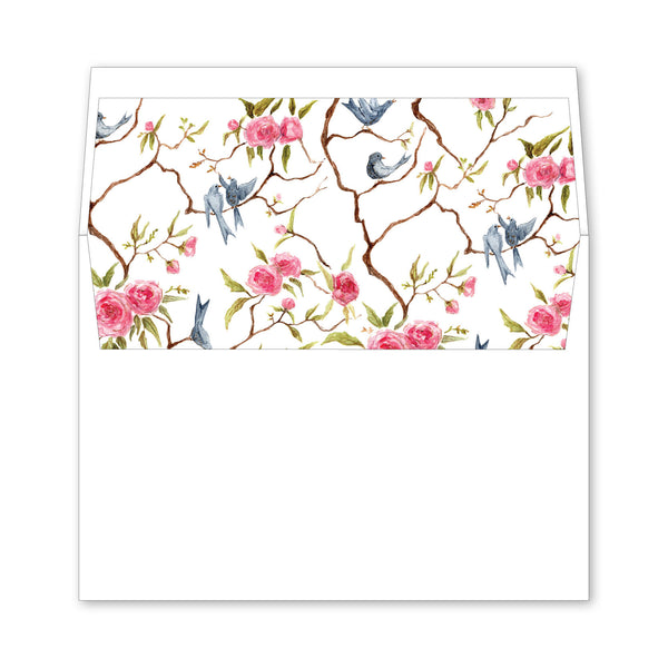 Songbird Wedding Invitation Envelope Liner