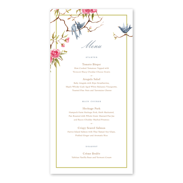 Songbird Menu