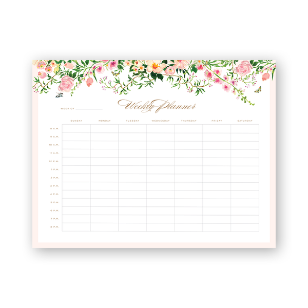 Verey Hourly Planning Notepad