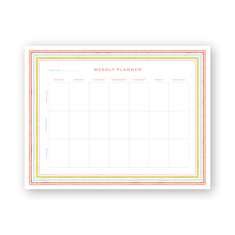Spring Palette Weekly Planning Notepad
