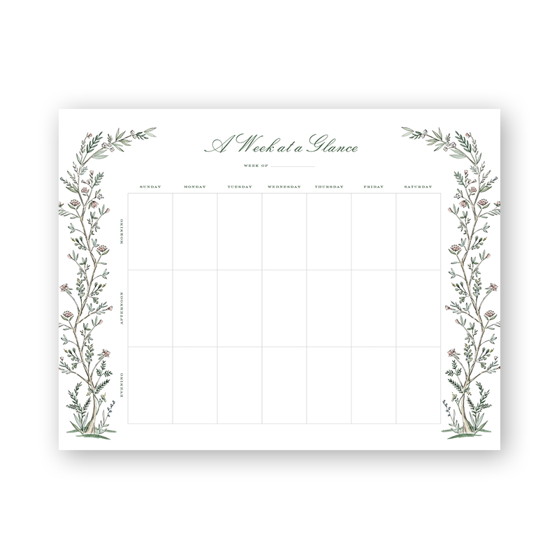 Blush Blossom Weekly Planning Notepad