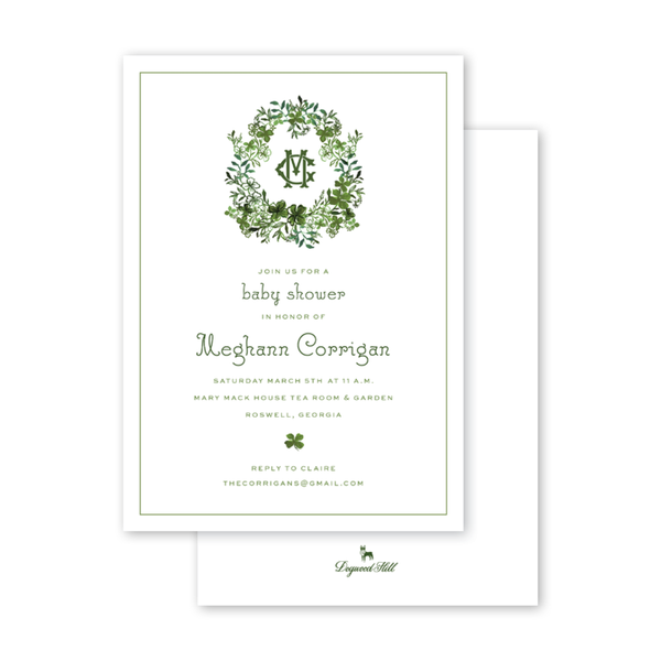Lucky Clovers Crest Invitation