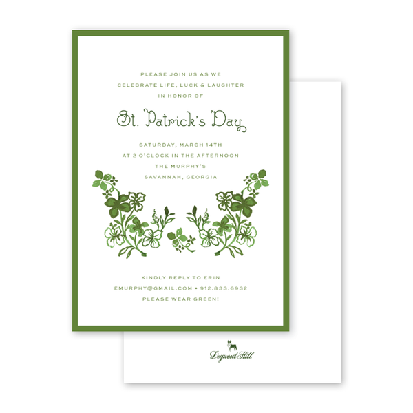 Lucky Clovers Invitation
