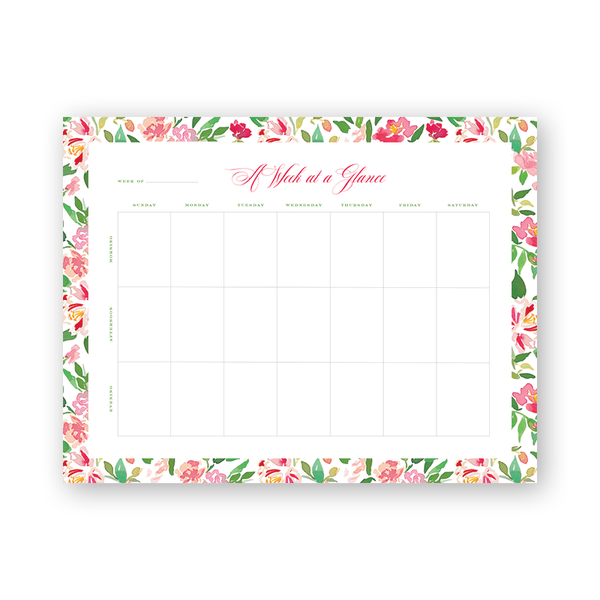 Eugenia's Garden Weekly Planning Notepad