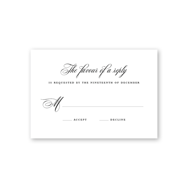Signature Classic Reply Card
