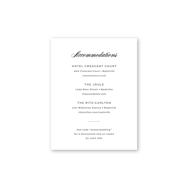Signature Modern Details Cards