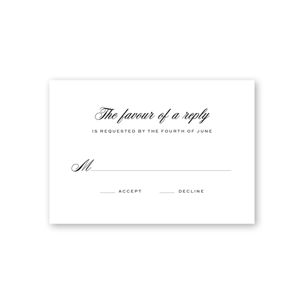 Signature Modern Reply Card