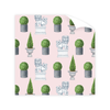 Savannah Gordon Street Foo Dogs Pink Wrapping Paper Roll