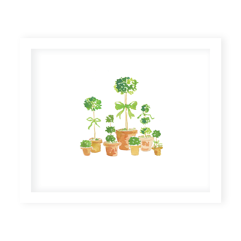 French Topiaries Art Print