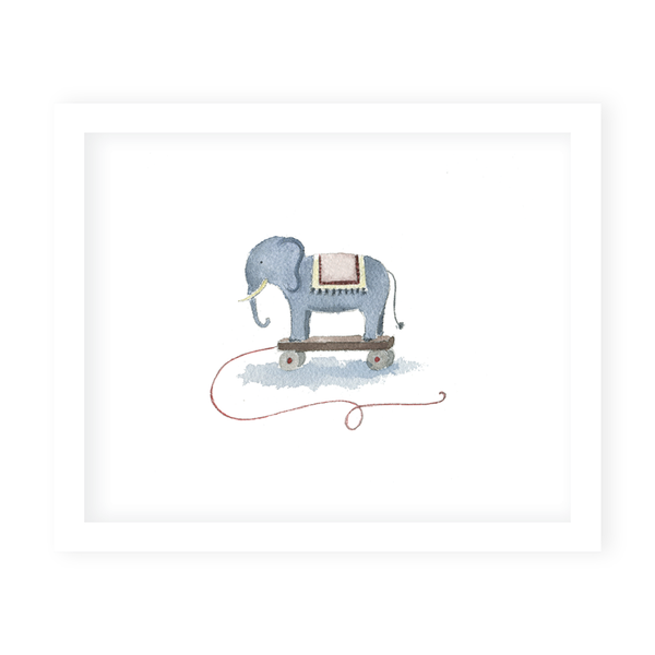 Elephant Toy Art Print