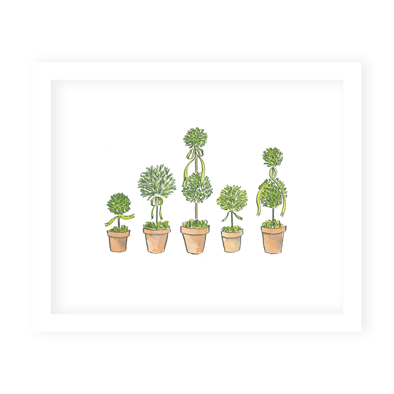 Terracotta Topiaries Art Print