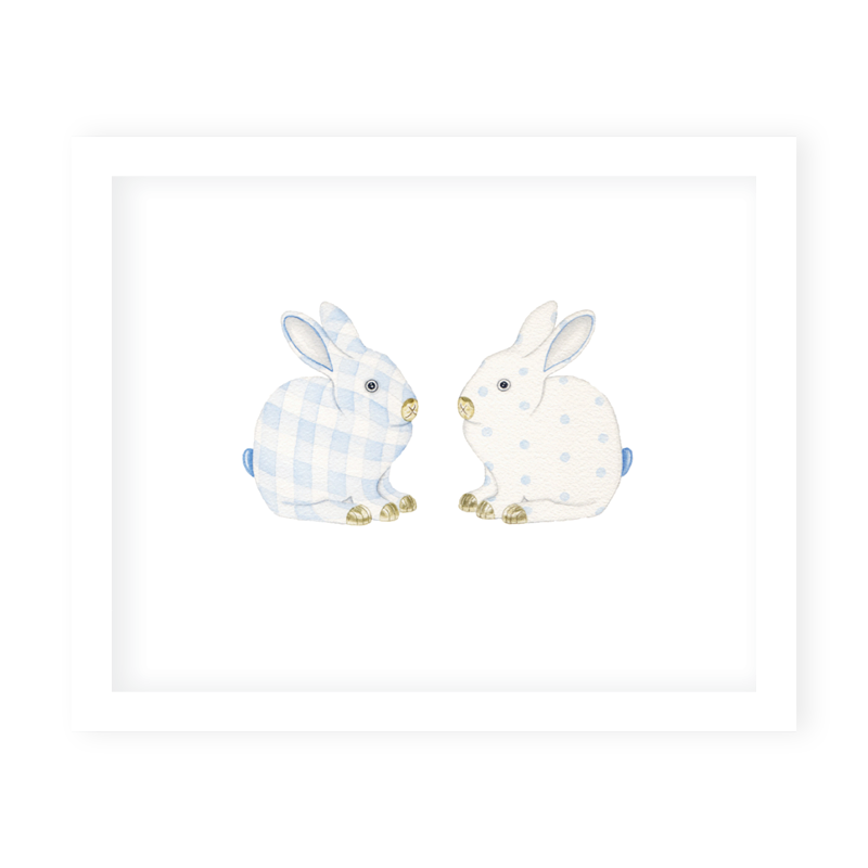 Porcelain Bunnies II Art Print