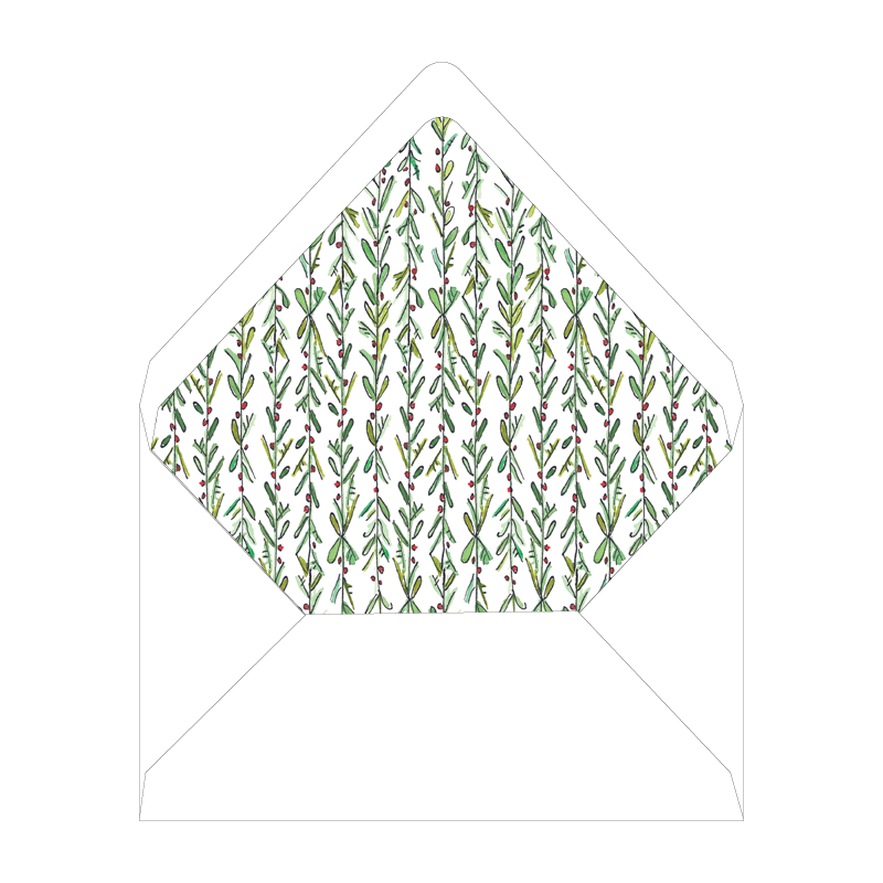 Spruces and Holly Invitation Liner