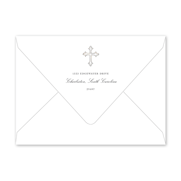 Baptism Cross Invitation Envelopes