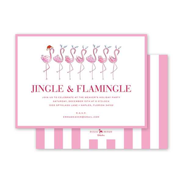 Flamingle Jingle Invitation