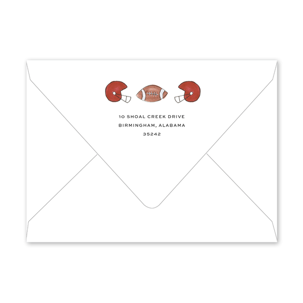 Alabama Football Envelopes
