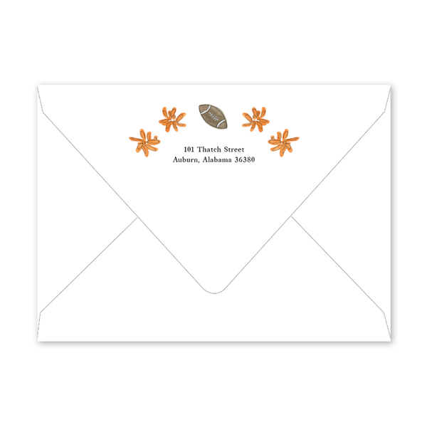 Auburn Football Cheer Envelopes