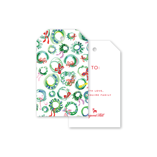 Merry Wreaths Gift Tags