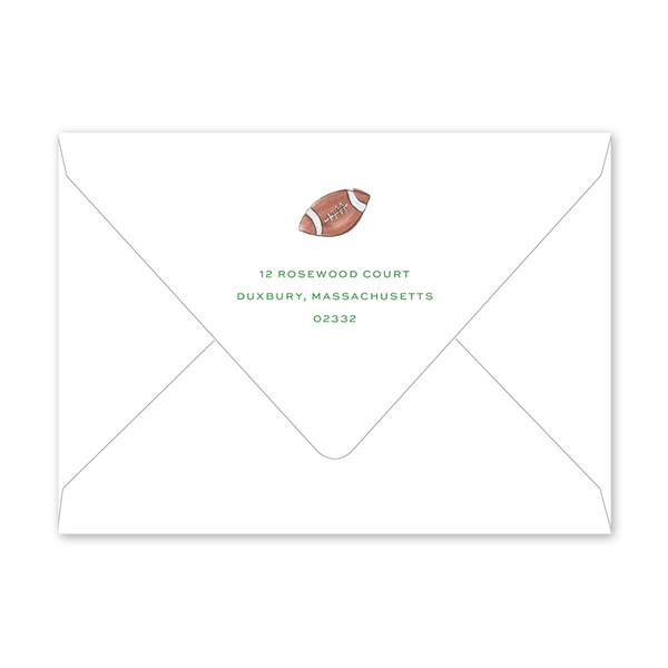 Super Bowl Goal Post Birthday Envelopes