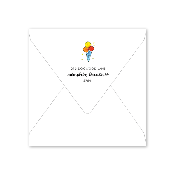Icecream Birthday Envelopes