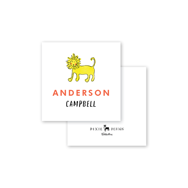 Zoo Animals Calling Card