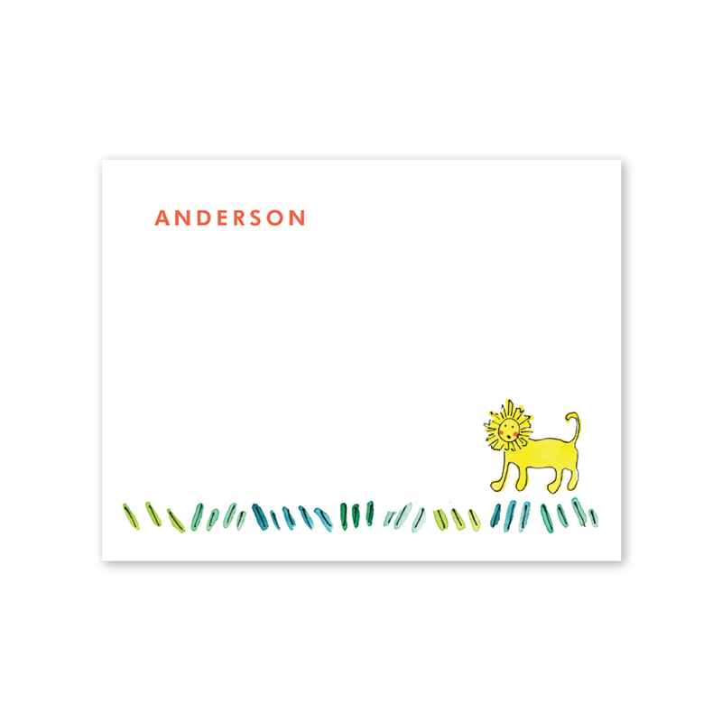 Zoo Animals Notecard