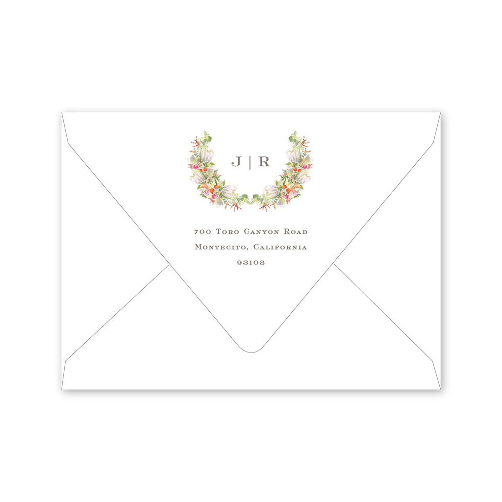 Protea Crest Save the Date Envelopes