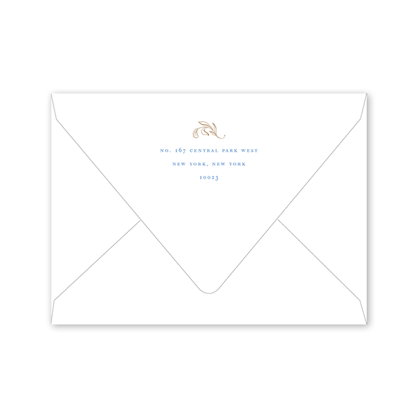 Campagne Light Blue Save the Date Envelopes