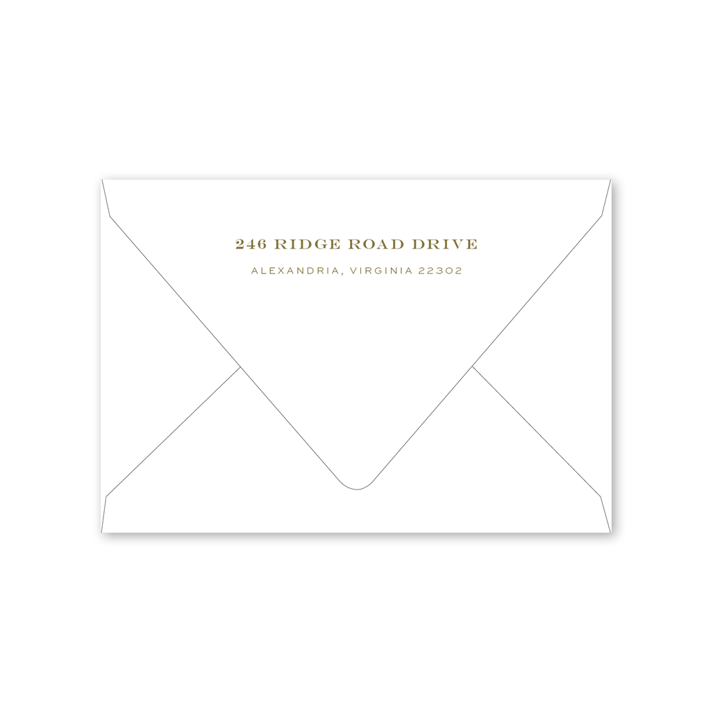 Oliva Folded Notecard Envelopes