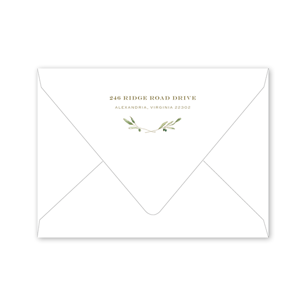 Oliva Save the Date Envelopes