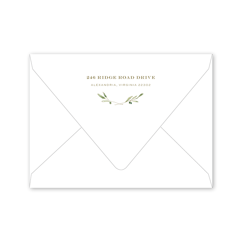 Oliva Notecard Envelopes