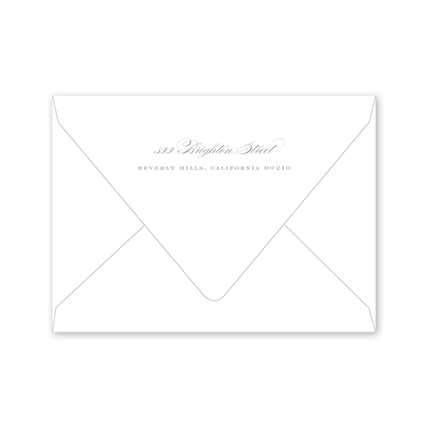 Beverly Save the Date Envelopes