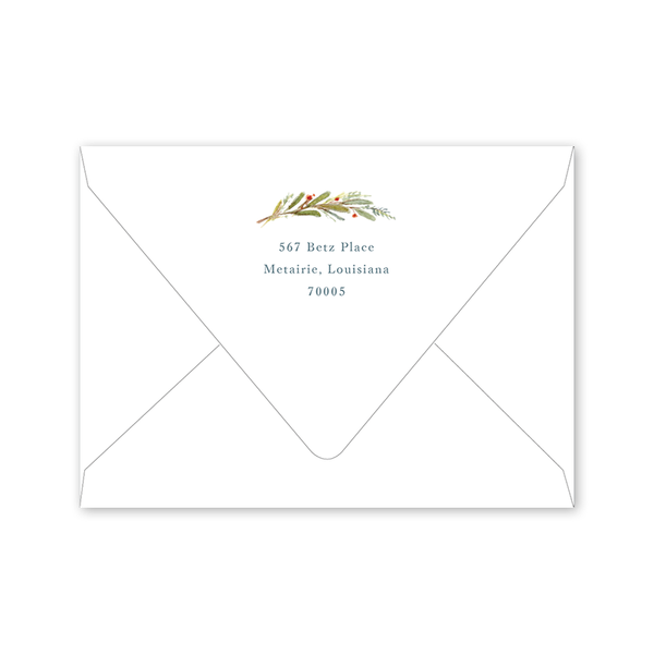 Nandina Save the Date Envelopes