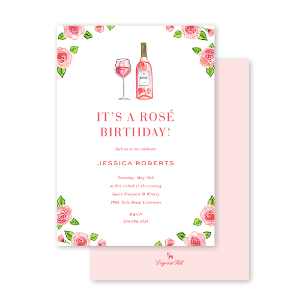Champagne and Rosé and Flowers Birthday